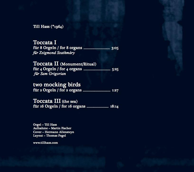 CD Till Hass organ tracklist